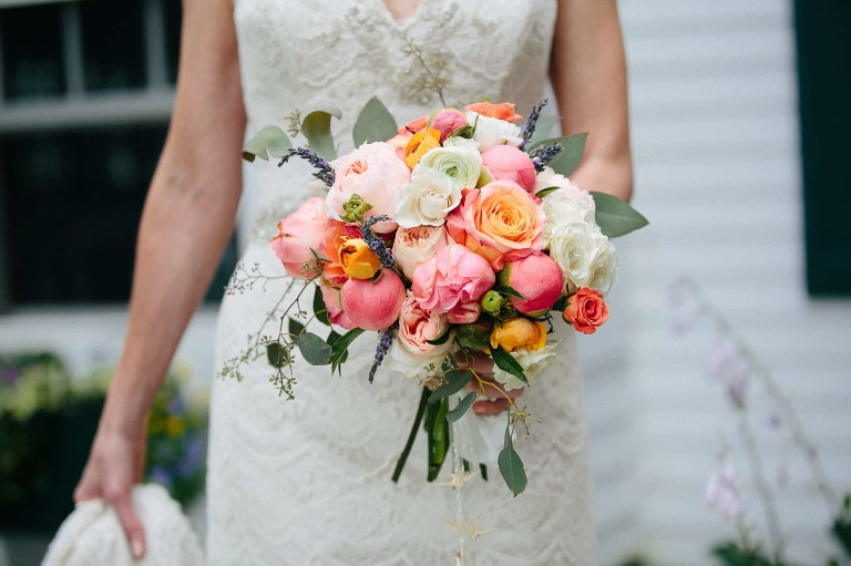 Beautiful Bright floral bouquet at West Mountain Inn Wedding in Arlington, VT photographers by Vermont Wedding Photographers - The Light and Color